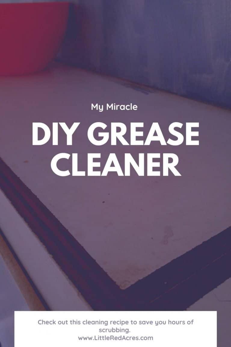 Best DIY Grease Cleaner